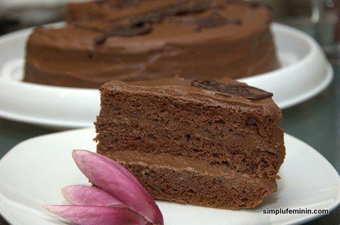 Tort cu crema de ciocolata (ganache) | Simplu Feminin
