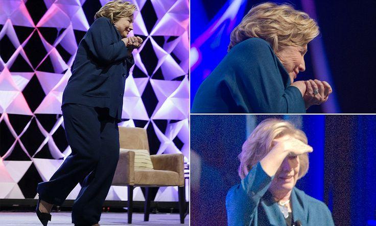 'Shoe thrown at Hillary Clinton during speech' #DailyMail