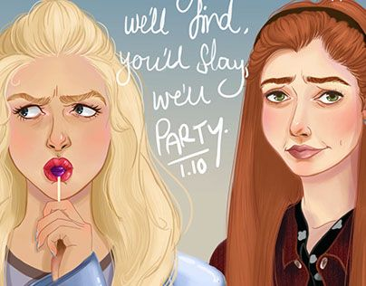 """Check out new work on my @Behance portfolio: """"Buffy and Willow"""" http://be.net/gallery/36196441/Buffy-and-Willow"""