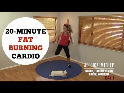 20 Minute Fat Burning Cardio Workout - No Equipment Needed for All Levels! - YouTube