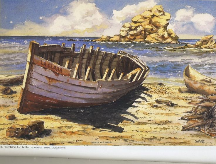 También fue bella. Acuarela. 37 x 56 cms. 1980 Germán Vieco Betancur