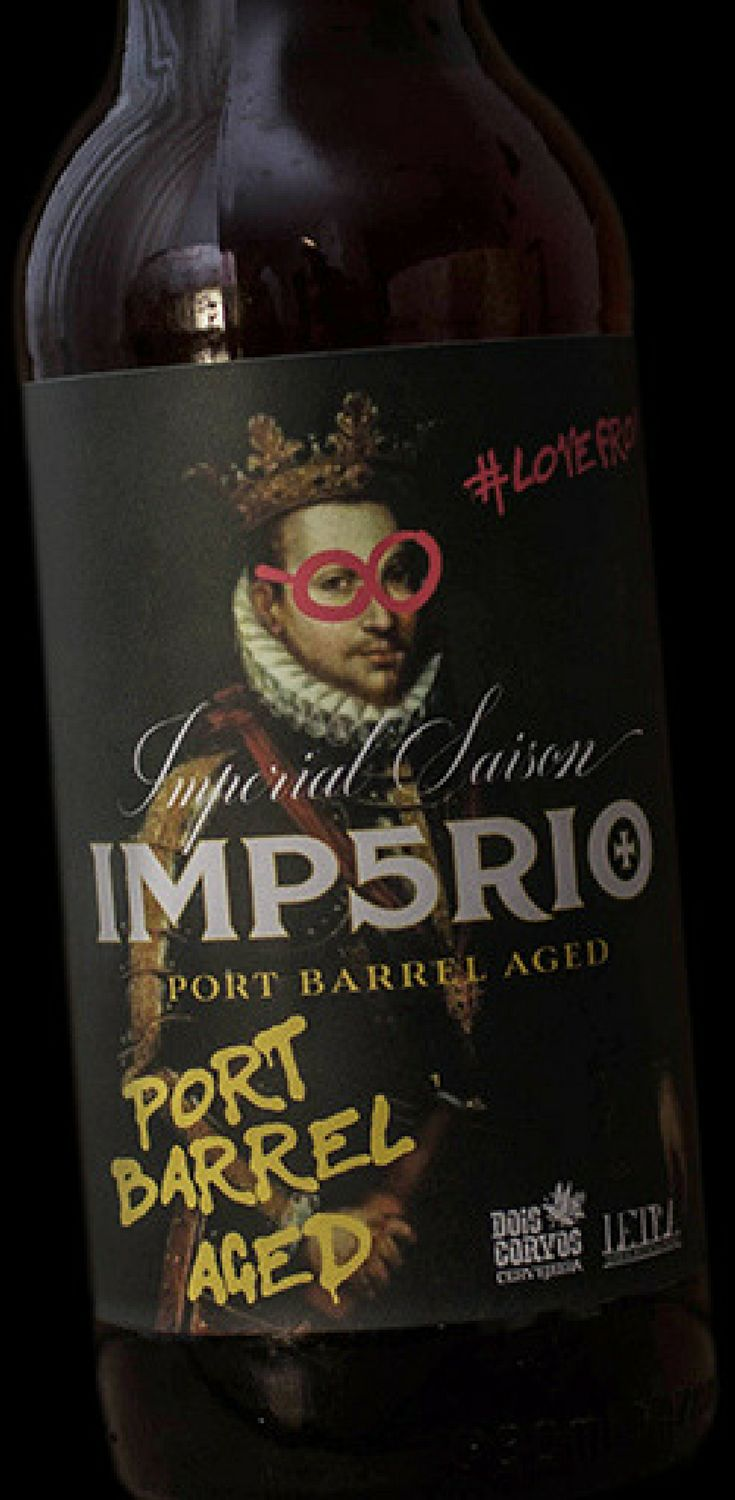 Label Design for 'Imp5rio Port Barrel Aged'. This beer has a fruity saison base with some spiciness mixed and a sweet, rich element from the Port Wine Barrels for contrast.
