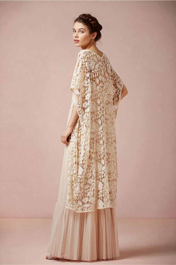 Kite and Butterfly's French Lace Cotton Cover-up, BHLDN Rose Garden Cape