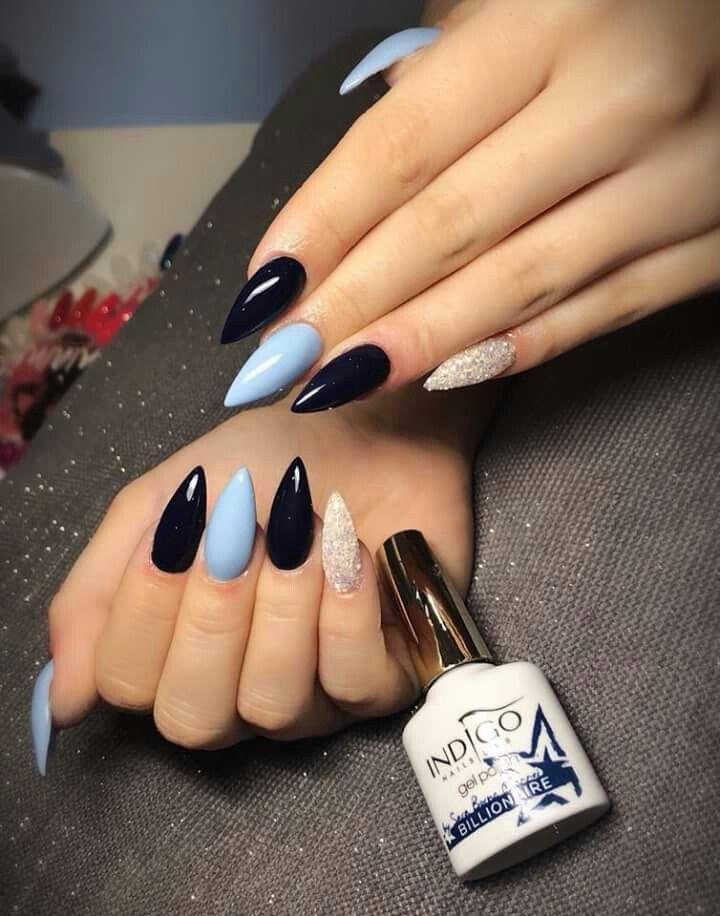 Colours Blue Nails Cute Acrylic Nails Light Blue Nails