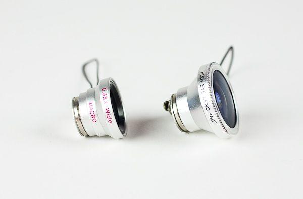 Fisheye, Macro, and Wide Angle Camera Phone Lenses