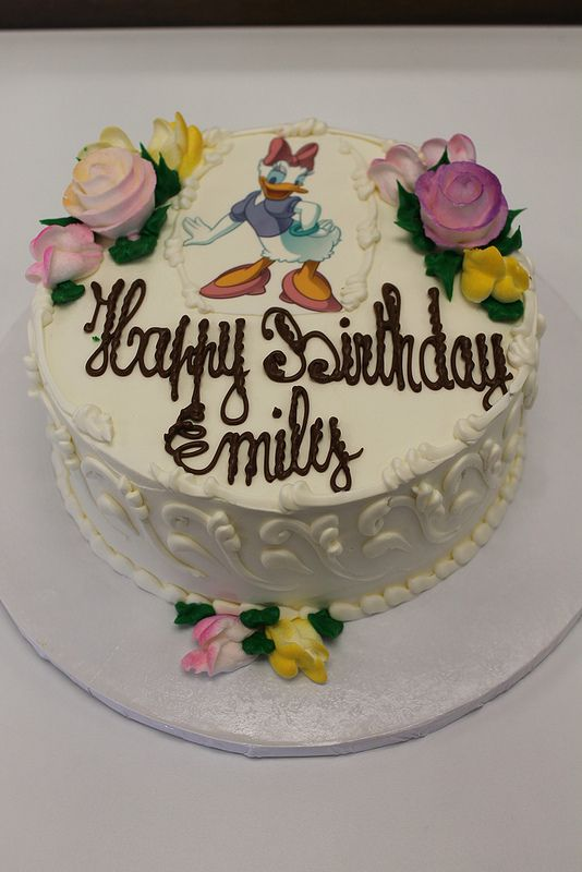 Happy Birthday Emily Cake Flowers