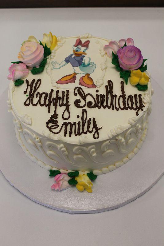 Happy Birthday Emily Cake Flowers Cake Custom Cakes
