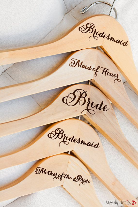 7  Personalized Bridesmaid Hanger  Engraved by delovelydetails