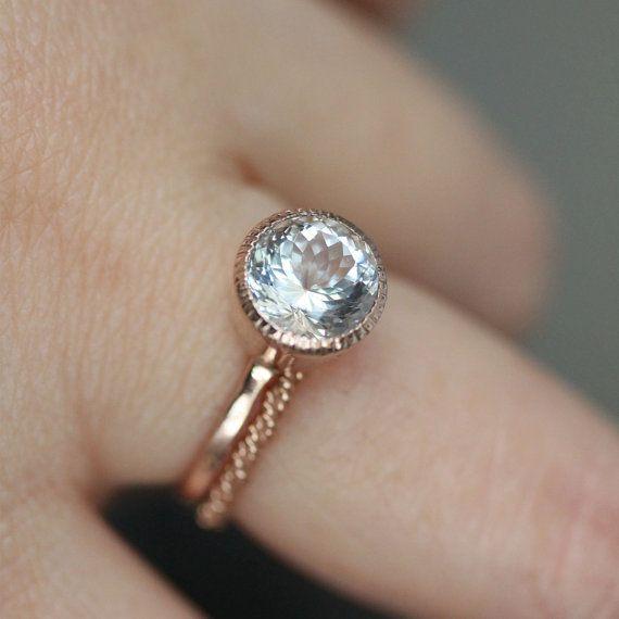 Rose Gold Princess Cut Engagement Ring