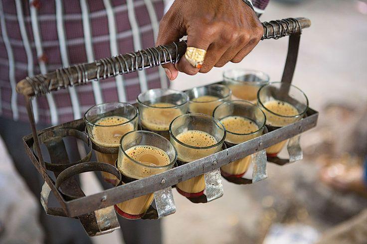Tea vendor in Kolkata, India
