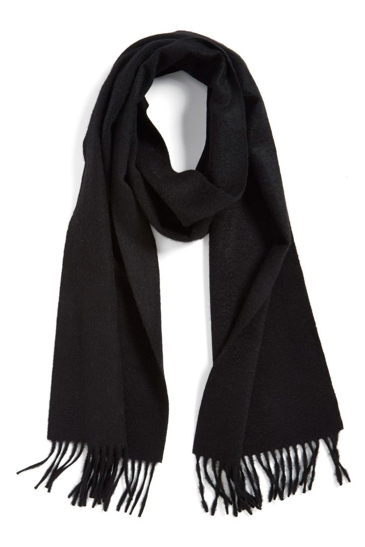 Solid Woven Cashmere Scarf by Nordstrom on @nordstrom_rack