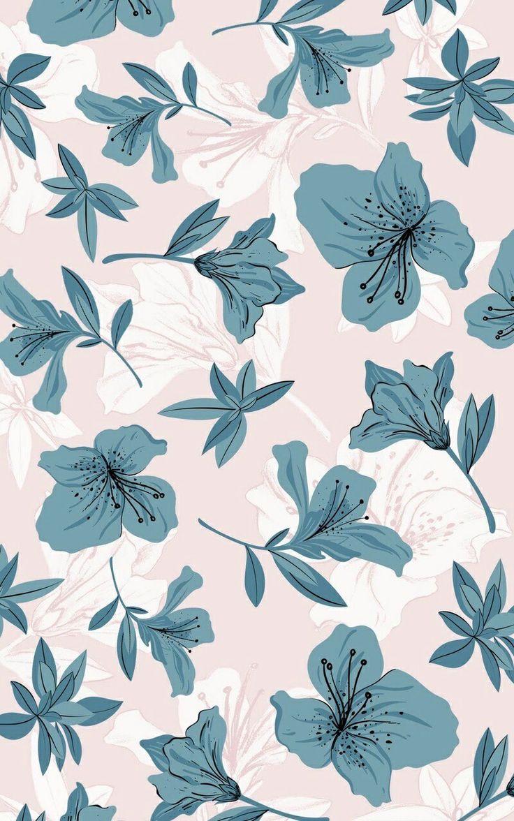 Lindo Wallpaper de flores, vintage