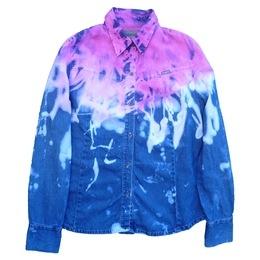 Candyfloss Pink Denim Dip Dye Shirt