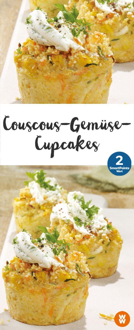 Couscous-Gemüse-Cupcakes   12 Portionen, 2 SmartPoints/Portion, Weight Watchers