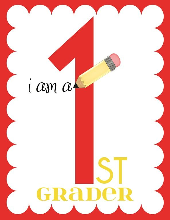 Grade Printables for the first day of school