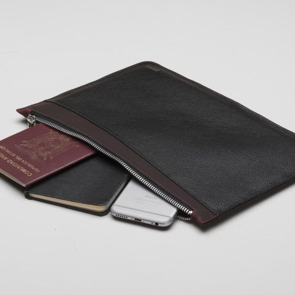 Leather New York Travel Pouch