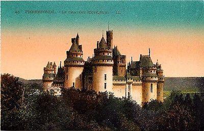 Pierrefonds France 1906 Chateau Pierrefonds South Side Antique Vintage Postcard Pierrefonds France Circa 1906 South side Chateau de Pierrefonds, a medieval castle built 1393-1407 by Louis, Duke of Orl
