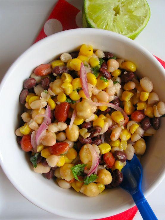 Beans and Corn Salad (Ensalada de Frijol y Maiz)