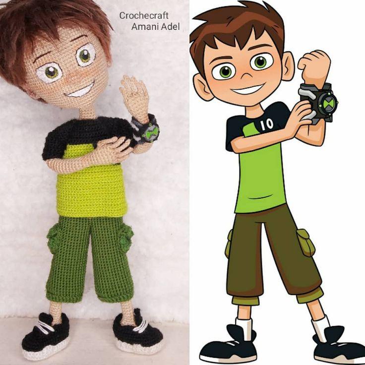 104 Likes 14 Comments Amani Adel Crochecraft Amani Adel On Instagram Ben 10 بن تن بعد شغل دام 4 شهور متواصل لل Vault Boy Character Fictional Characters