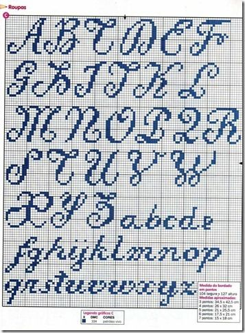 monograma enxoval bebe ponto cruz cross stitch