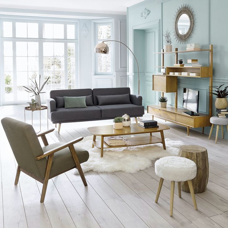 Salon moderne style scandinave interior interiordesign madecorationamoi livingroom maisonsdumonde decomorderne