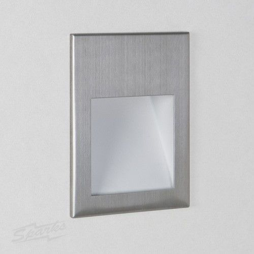 Wall Recessed Light Fittings : Borgo 90 Brushed Stainless Steel Recessed LED Wall Light 2W 3000K 71lm Dimmable IP20 rated ...