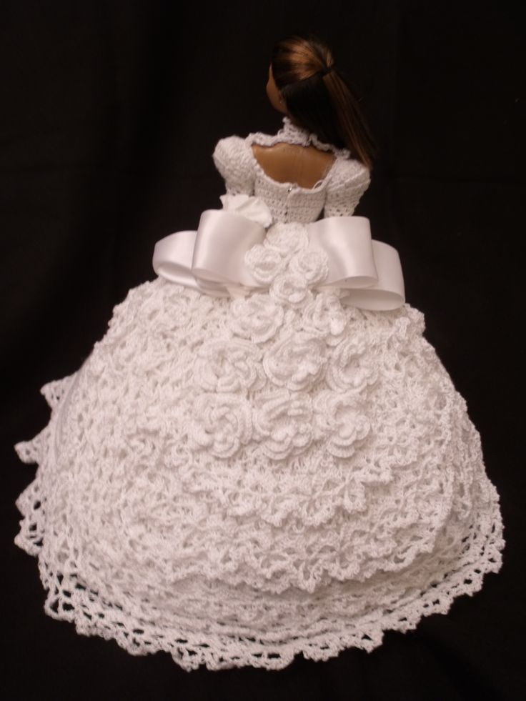 Crocheted Barbie doll Wedding Gown | Doll Clothes | Pinterest