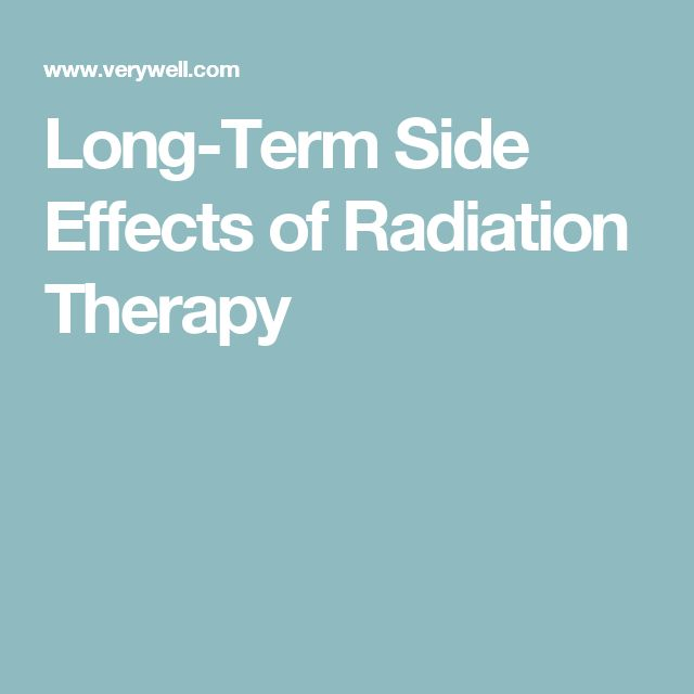 possible long-term effects of radiation - The Breast Care Site