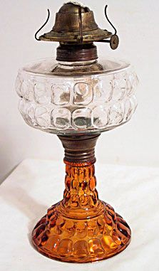 "2 Color ""Muff"" Kerosene Lamp"