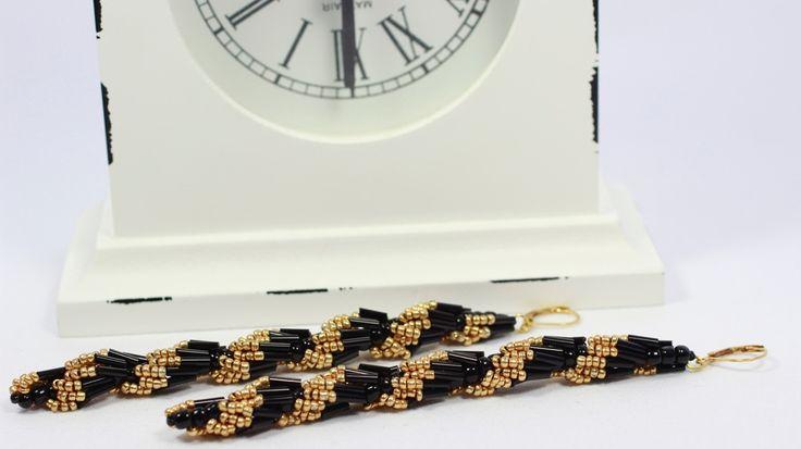 Sead beads earrings. Very long and elegant.