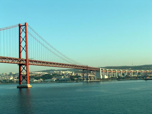 Picture of Lisbon, Portugal Suspension Bridge - 25th of April Bridge