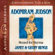 As America's first foreign missionary, Adoniram Judson (1788-1850) spent 38 years working in Burma, then one of the most hostile countries on Earth. Judson was ignored, mocked, beaten, and tortured, yet he never lost sight of his goal to translate the Bible into the Burmese language. Today, over 150 years after his death, his translation remains the only translation of the Bible in Burmese.