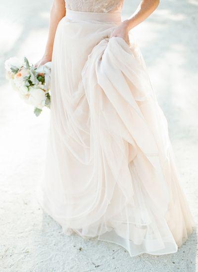 blush wedding dress   Natalie Watson