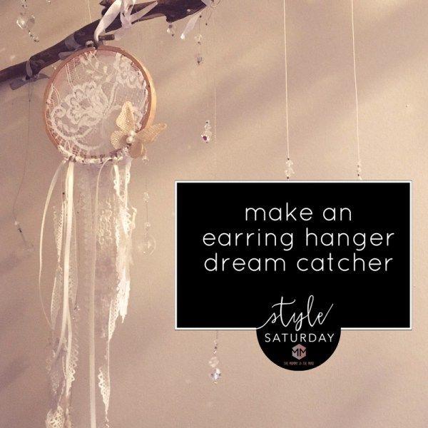 how to make an earring dream catcher