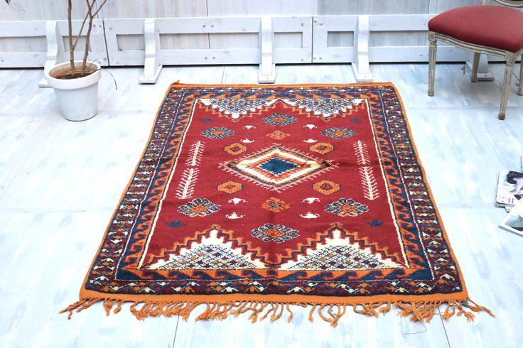 Tapestry 4x6 Soft Berber rug Rug Teppich Traditional Rug Classic Design Prestigious Moroccan Berber Vintage Rug best housewarming gift
