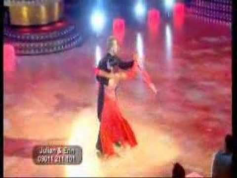 Julian Clary and Erin Boag dance the tango in week 3 of the second series of Strictly Come Dancing.