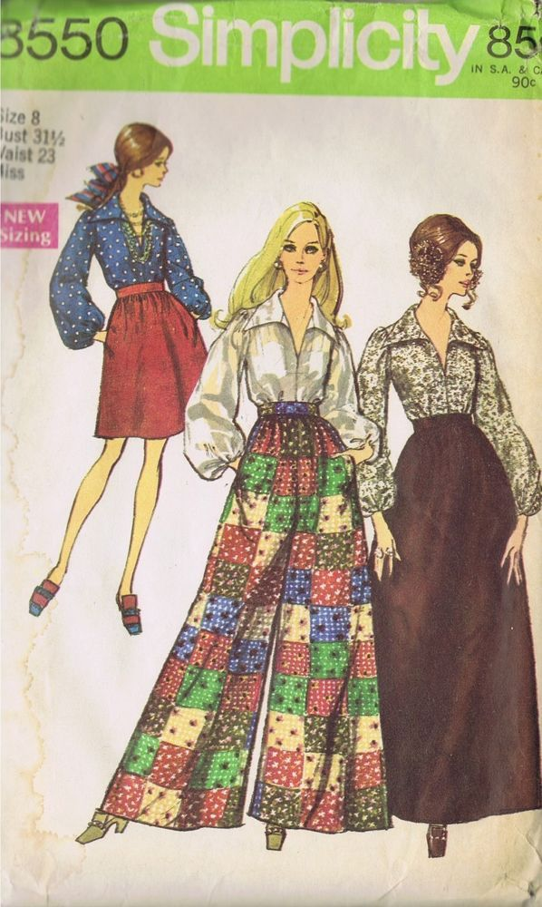palazzo pants skirt sewing pattern 8550 simplicity size 8