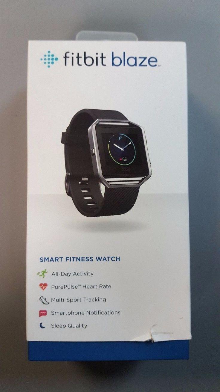 New Fitbit Blaze  Smart Watch with Heart Rate Monitor  Large  Black #fitnesstrackerwithheartratemonitor