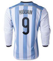 Argentina national team 2014 #9 HIGUAIN HOME SOCCER LS [1405271556]