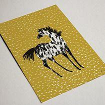 Pocztówka koń tarantowaty, kartki okolicznościowe, zakładki do książek