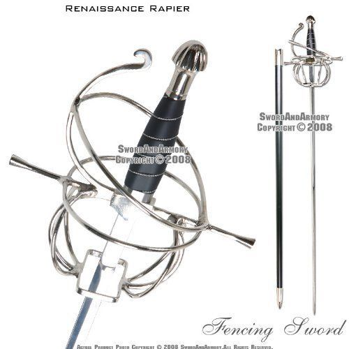 Ace Martial Arts Supply Renaissance Rapier Fencing Sword with Swept Hilt Guard | Collectibles, Knives, Swords & Blades, Swords & Sabers | eBay!