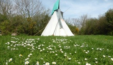 White Blossom Tipi 5 - Anglesey Tipis and Yurts