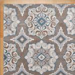 Rizzy Rugs Etta Light Gray & Blue Floral Area Rug & Reviews | Wayfair