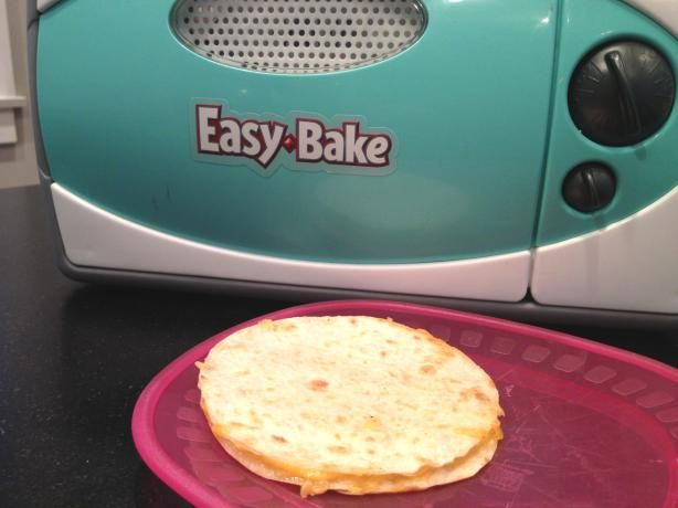 Easy Bake Oven Quesadilla.