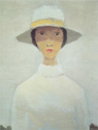 La femme au chapeau blanc by Jean Paul Lemieux