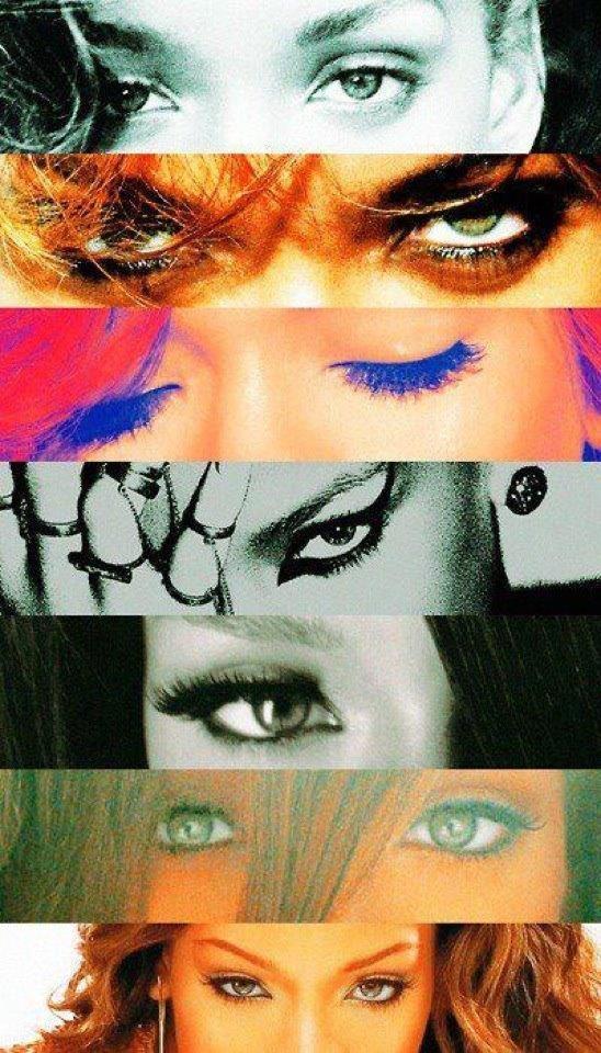 Rihanna's album covers.. I love this!!!!