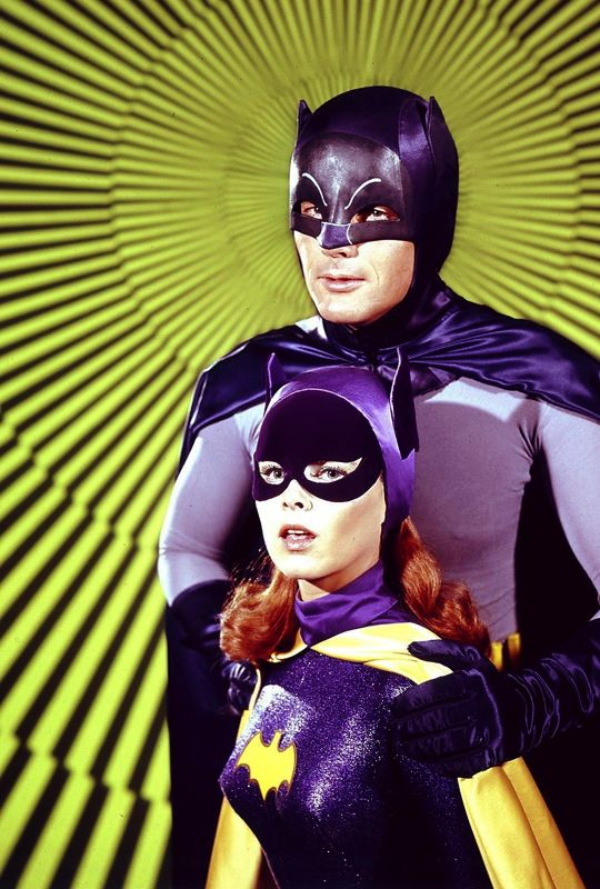 vintagegal:  Adam West and Yvonne Craig in a promotional photo for the Batman TV series, 1967