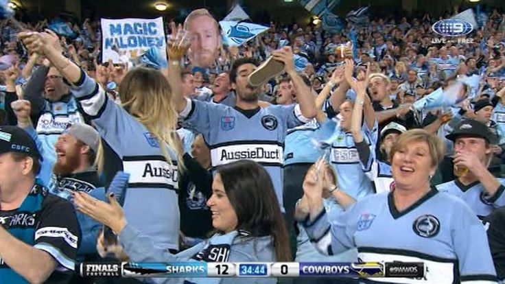 Up Up Cronulla Sharks marching through the great NRL finals.