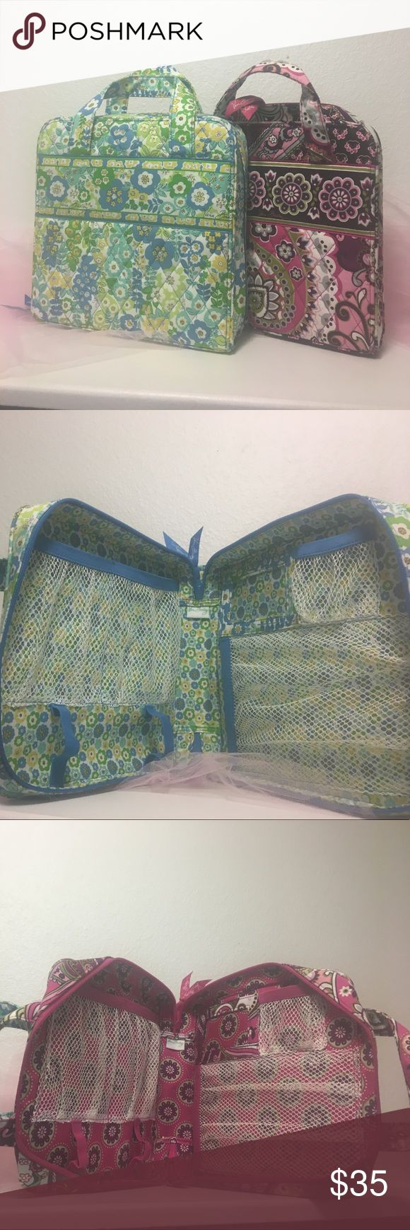 Two Vera Bradley Tech organizers. WILLING TO NEGOTIATE FOR A QUICK SALE!! In great condition. In the patterns English meadow and Very Berry Paisley. 35$ FOR BOTH-CAN BE LISTED SEPARATELY UPON REQUEST!! Great for First Aid kits or an emergency bag to keep at work or in the car! Vera Bradley Bags Travel Bags