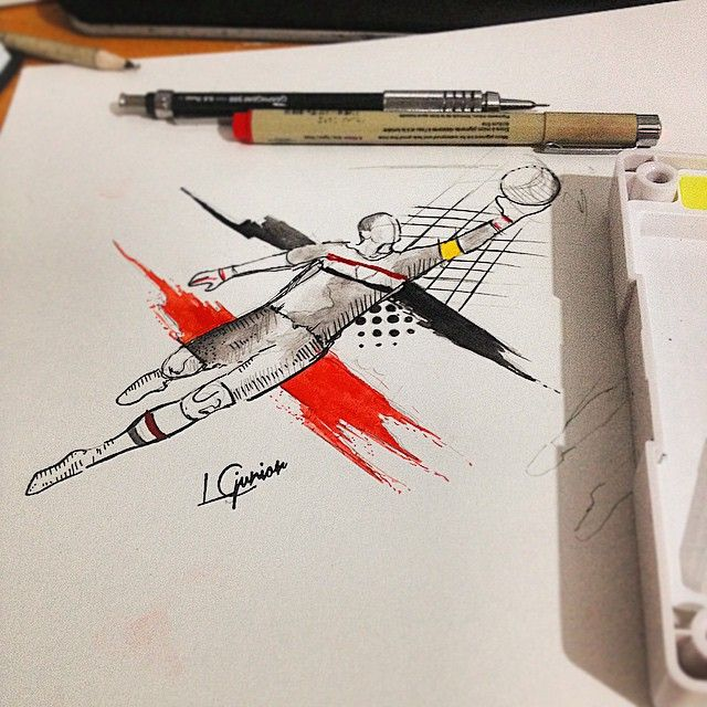 "372 Me gusta, 21 comentarios - LCjunior - Junior Lopes (@lcjuniortattoo) en Instagram: ""Rivalidade a parte • arte feita para cliente • Rogério Ceni #sketch #watercolor #aquarela…"""